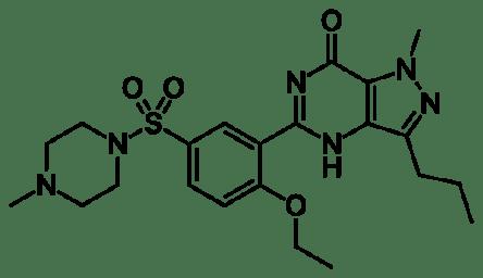sildenafil viagra molecular structure